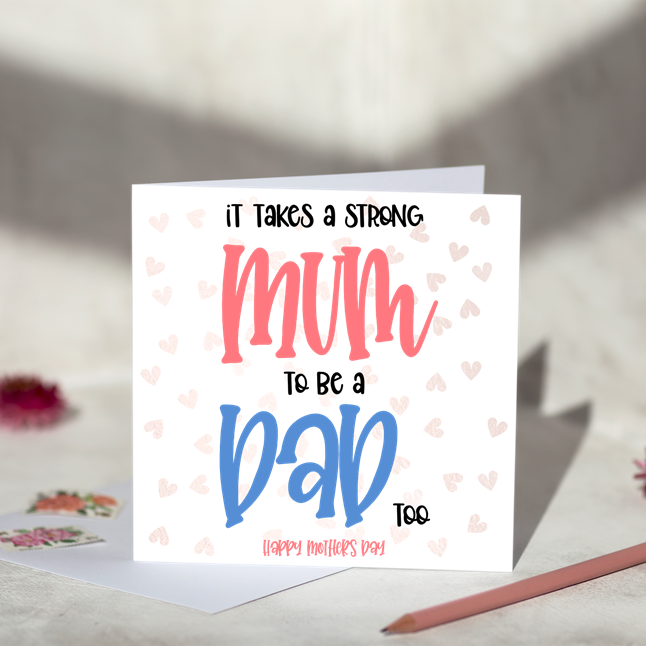 Strong Mum Greeting Card