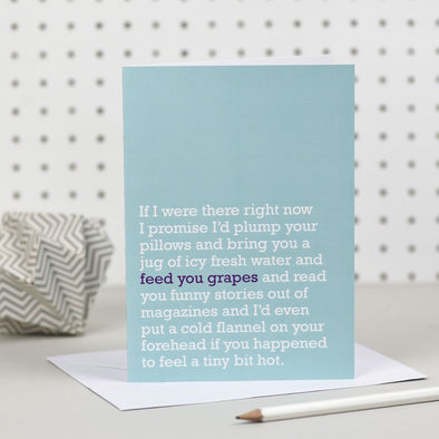 'Feed You Grapes' Get Well Card