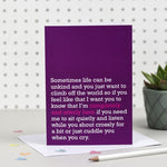 'Completely And Utterly Here' Card