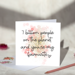 7 Billion People On The Planet Greeting Card