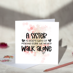 A Sister Is God's Way Greeting Card