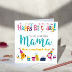 Amazing Mama Birthday Card