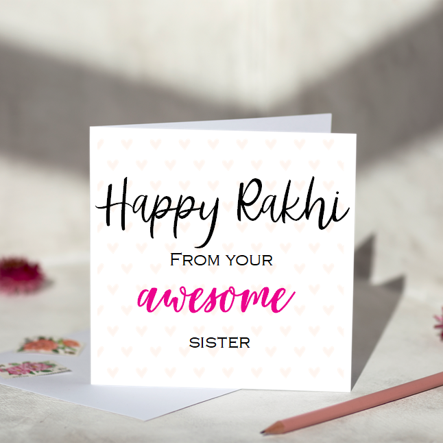 Awesome Sister Rakhi Card