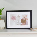 Sample Sale - Guru Nanak & Guru Gobind Print Including Mool Mantar in English Including Translation