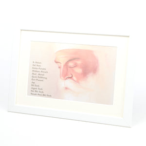 A4 Framed Guru Nanak Print Including Mool Mantar in English