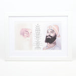 Guru Nanak & Guru Gobind Print Including Mool Mantar in Punjabi Including Translation