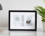 Monochrome Guru Nanak & Guru Gobind Print Including Mool Mantar in English Including Translation