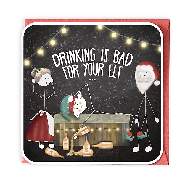 Bad For Your Elf Greeting Card