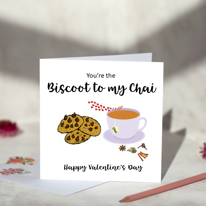 You're the Biscoot to my Chai Greeting Card