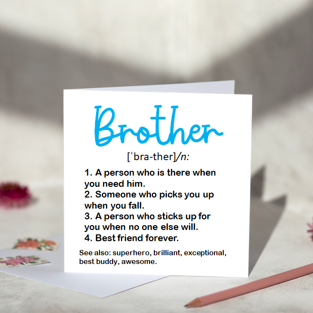 Brother Definition Greeting Card