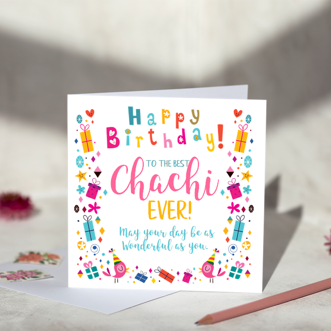 To The Best Chachi Birthday Card