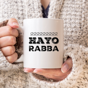 Hayo Rabba Chalk Hearts Mug