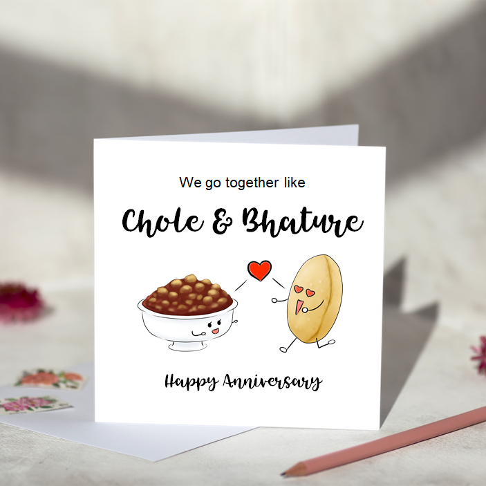 We Go Together Like Chole & Bhature Greeting Card
