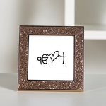 Multi-Faith Hope Love - Christianity & Sikhism Glitter Frame