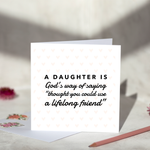 A Daughter Greeting Card