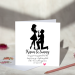 Silhouette Engagement Card