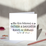 Father And Daughter Fathers Day Card