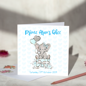 Baby Boy Ghee Ceremony Card