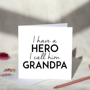 Grandpa Hero Fathers Day Card