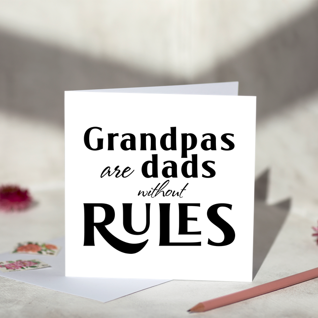 Grandpa Rules Fathers Day Card