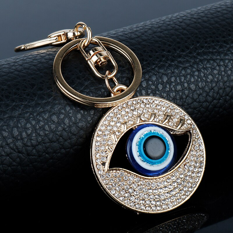 Crystal Evil Eye Key Chain Amulet Keyring