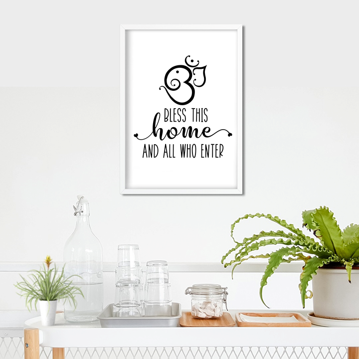 Hinduism Bless This Home Art Print or Framed