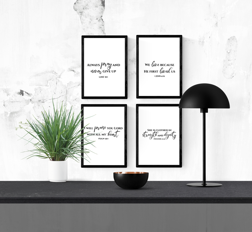 I Will Praise You Lord With All Of My Heart A4 Framed Print