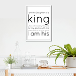 Daughter of a King Art Print or Framed
