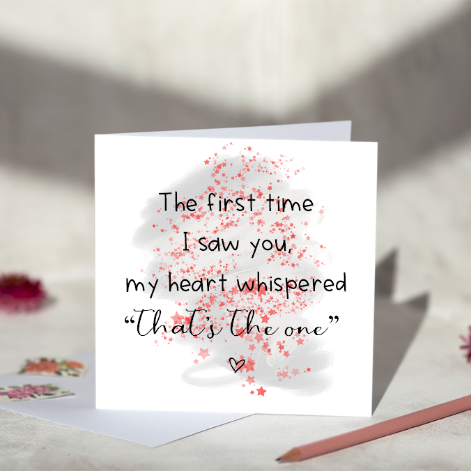 The First Time I Saw You ... Greeting Card