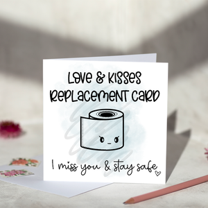 Love & Kisses Replacment Greeting Card
