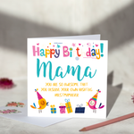 Mama Hashtag Birthday Card