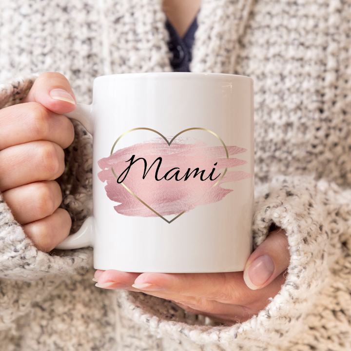 Rose Gold Name Mug