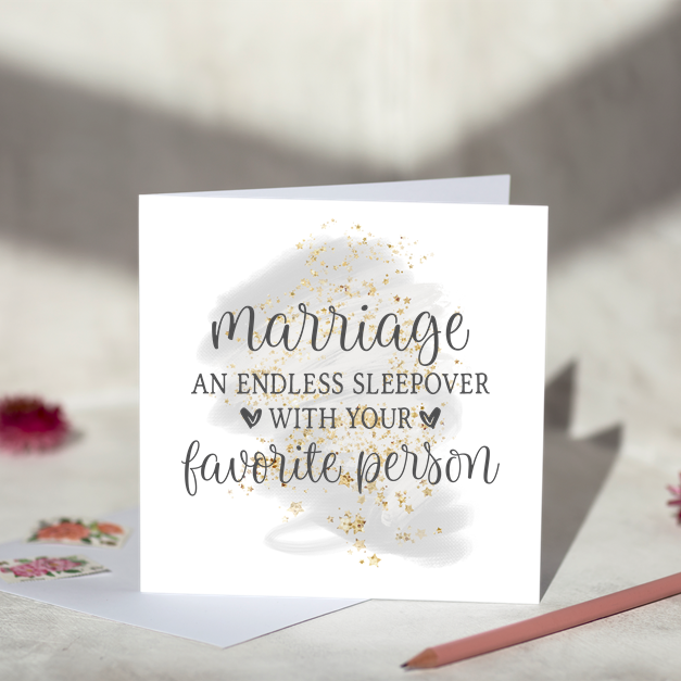 Marriage Favourite Person Greeting Card