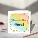 Personalised Miss You Rainbow Greeting Card