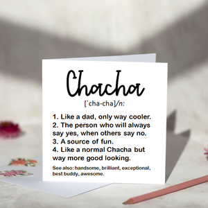 Chacha Definition Greeting Card