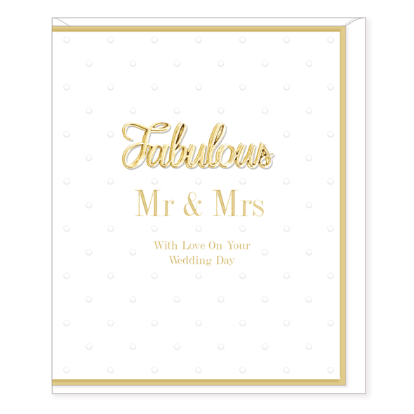 Oh So Charming - Mr & Mrs Wedding Card