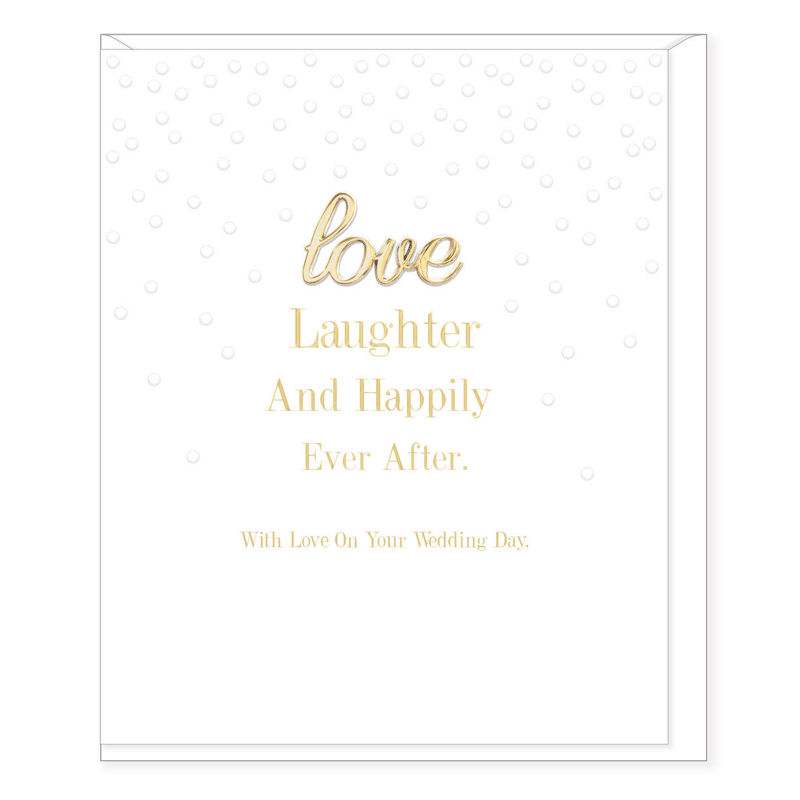 Oh So Charming - Love Laughter Wedding Card