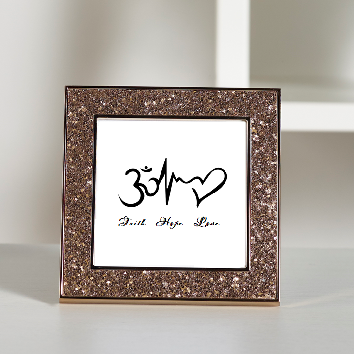 Faith Hope Love - Hinduism Glitter Frame