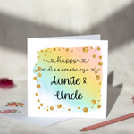 Personalised Happy Anniversary Greeting Card