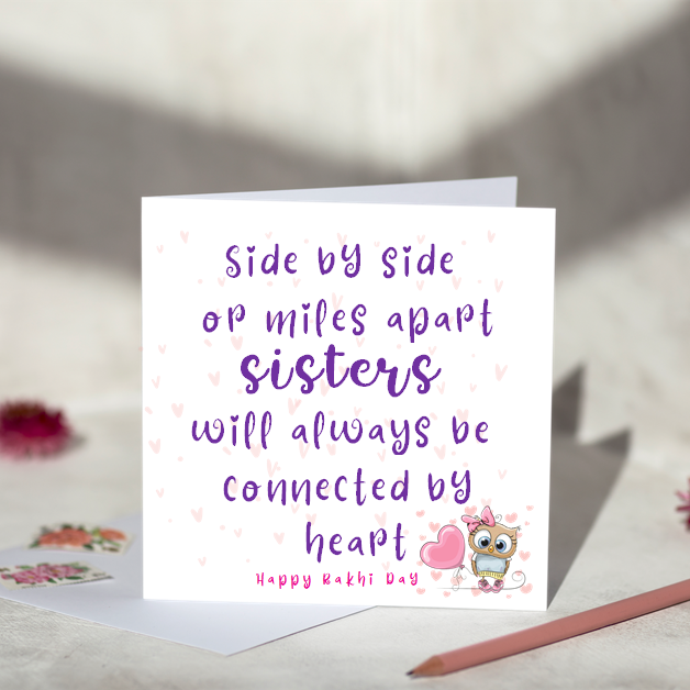 Side by Side -  Rakhi Card For Sisters