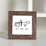 Faith Hope Love - Sikhism  Glitter Frame