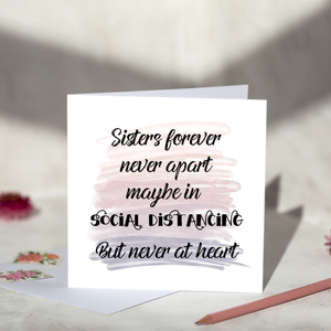 Sisters Social Distancing Greeting Card