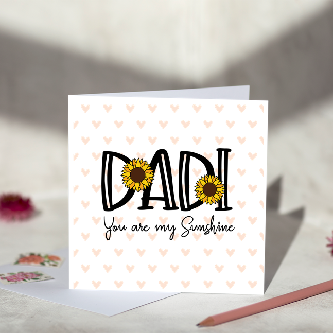 Dadi You Are My Sunshine Greeting Card