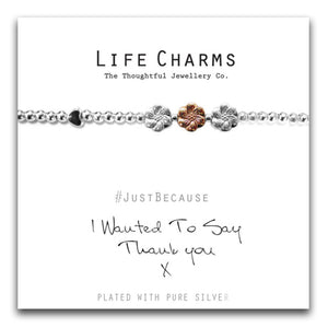 I Wanted To Say Thank You Silver Flower Bracelet