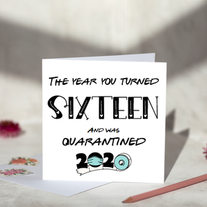The Year You Turned Personalised Birthday Card Greeting Card
