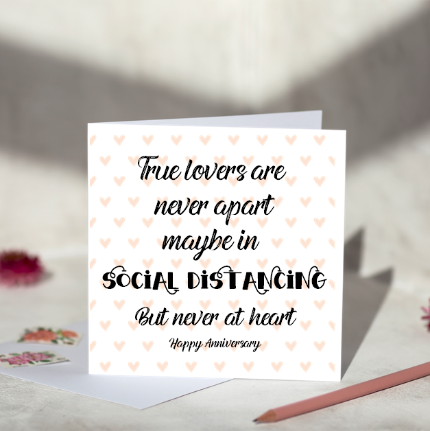 Lovers Social Distancing Greeting Card