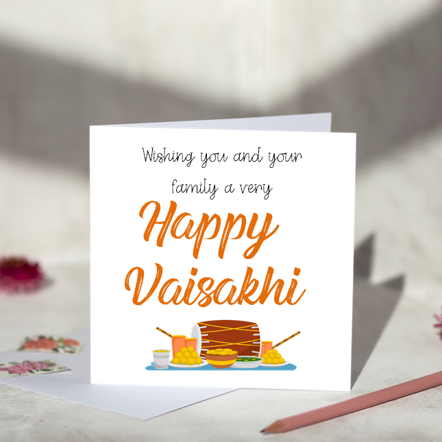 Happy Vaisakhi Greeting Card