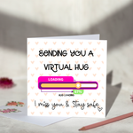 Virtual Hug Greeting Card