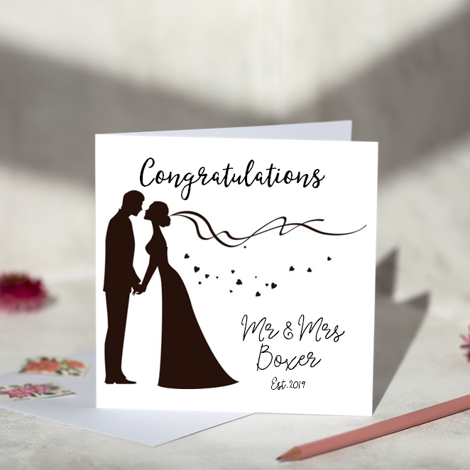 Silhouette Wedding Card