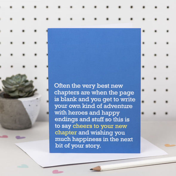 'Cheers To Your New Chapter' Card